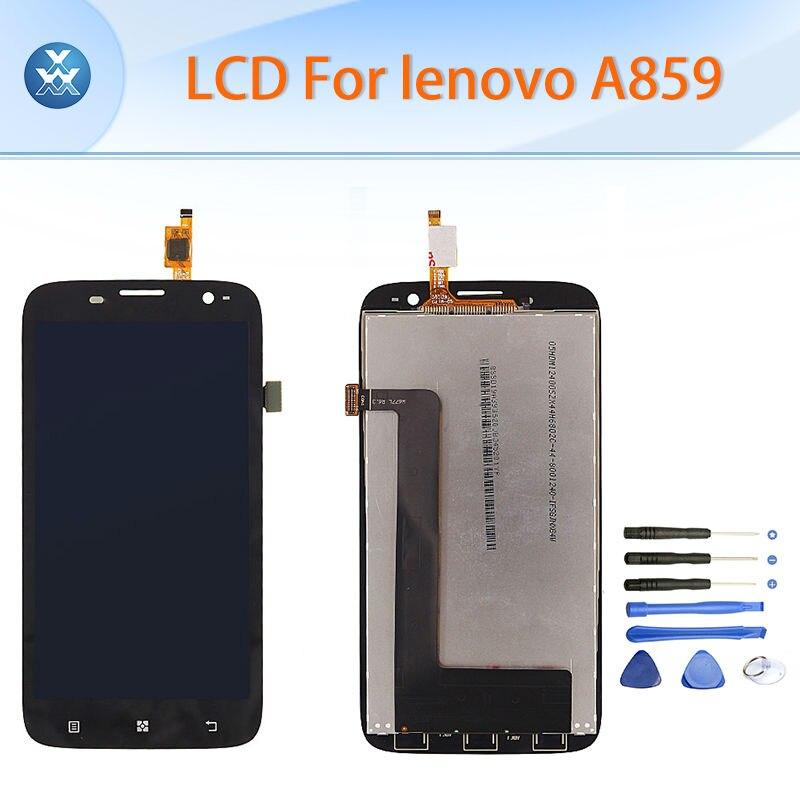 Pantalla lcd de pantalla táctil digitalizador asamblea completa para lenovo a859