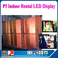 0.64*0.64 m indoor p5 led video display with one receiving card in every aluminum rental cabinet