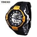 Time100 часы для мужчины двойной дисплей движение стрелочные цифровые наручные часы горячая марка кварцевые спортивные часы водонепроницаемые часы