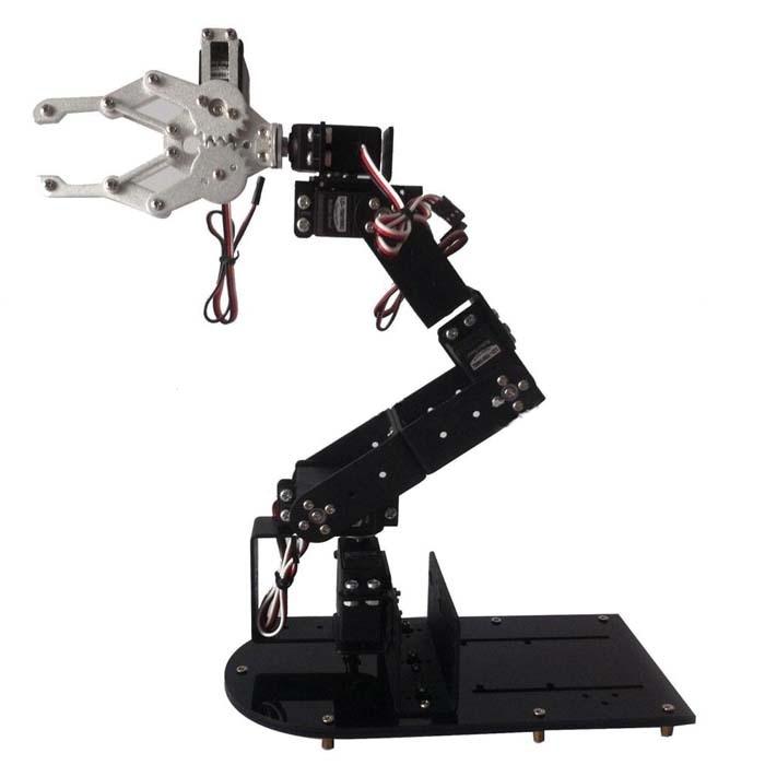 Wenhsin Doit H456 Abb Industrial Robot Mechanical Arm 100% Alloy Six degrees of freedom Robot Arm Rack with 6 Servos 6 dof robot arm six axis manipulators industrial robot model robot without controller mg996r