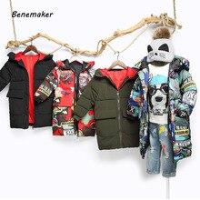 Benemaker de invierno de los niños chaquetas para niños niñas abrigos  gruesos deportes Casual Parkas ropa con capucha bebé niños. ecbf88afc163