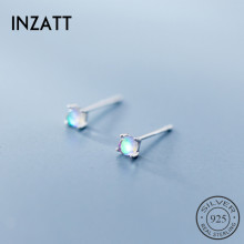 Stud-Earrings Fine-Jewelry Gradient 925-Sterling-Silver Minimalist Glass Birthday-Party