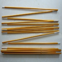 2 Pcs Tent Pole Aluminum Alloy Tent Rod Spare Replacement 8 5mm Tent Support Poles Camping