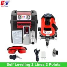 KaiTian Laser Level 2 Linien 2 Punkte mit Slash Funktion/Outdoor/360 Rotary Selbst Leveling für 635nM EU Cross Line Laser werkzeuge