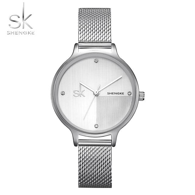 57e1999927a Shengke Marca Women Watch Ladies Relógios de Quartzo Senhora Relógio de  Pulso Relogio feminino Luxo Cristal