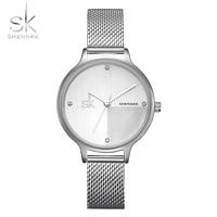 Shengke Brand Women Watch Ladies Quartz Watches Lady Wristwatch Relogio Feminino Crystal Luxury Simple Style Bracelet