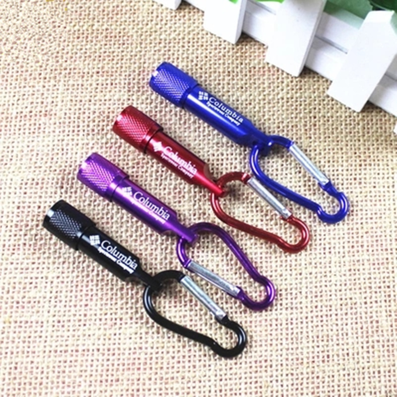 6PCS New Mini LED Flashlight climbing hook Keychain Camping Hiking Torch Lamp Penlight Waterproof For Outdoor