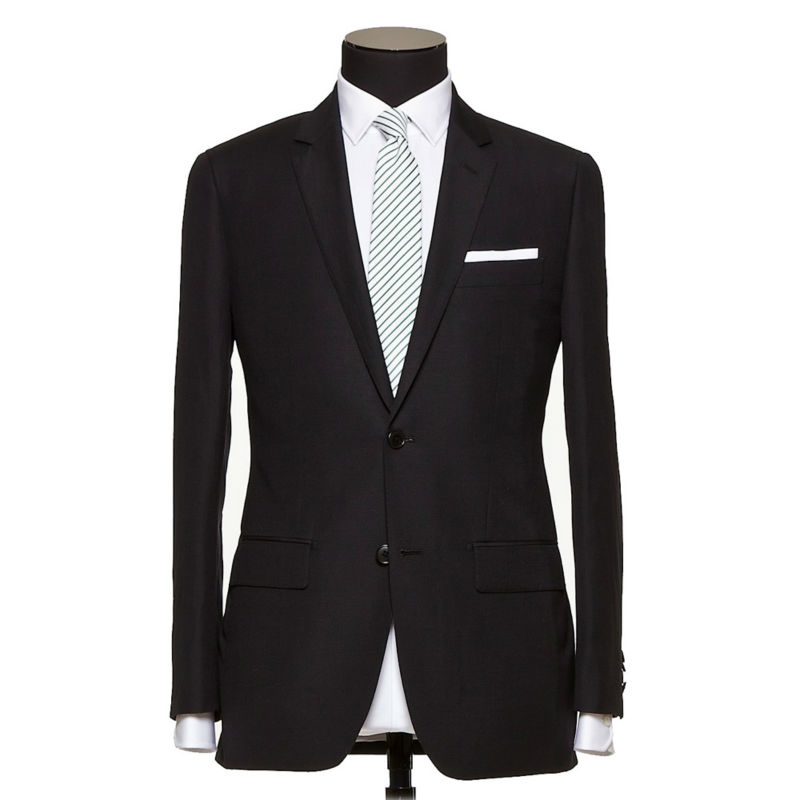 Pas cher prix de homme noir custom tailor made twill affaires costume, costume de mariage