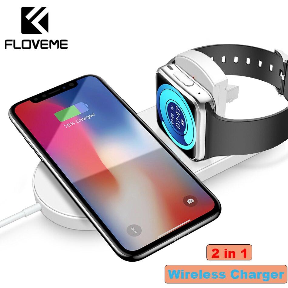 FLOVEME Schnelle Qi Drahtlose Ladegerät Für iPhone 8 X XS Max XR Drahtlose Ladegerät Pad Für Apple Uhr Ladegerät Für samsang Galaxy S9 S8