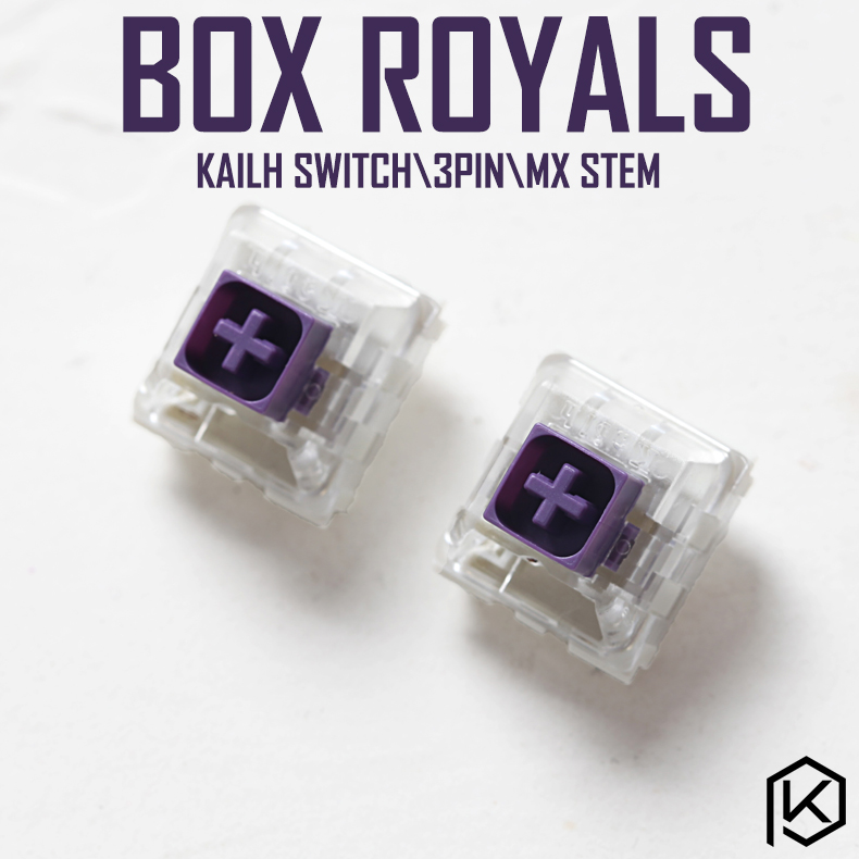 Purple Switches Kailh-Box Mechanical Royal-Royals-Switch Keyboard-Ip56 Novelkey SMD RGB