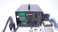 Free ship Kada 852D + Hot Air rework station Electric Soldering Irons eletronic Soldering Reballing Soldering tools kada852D+