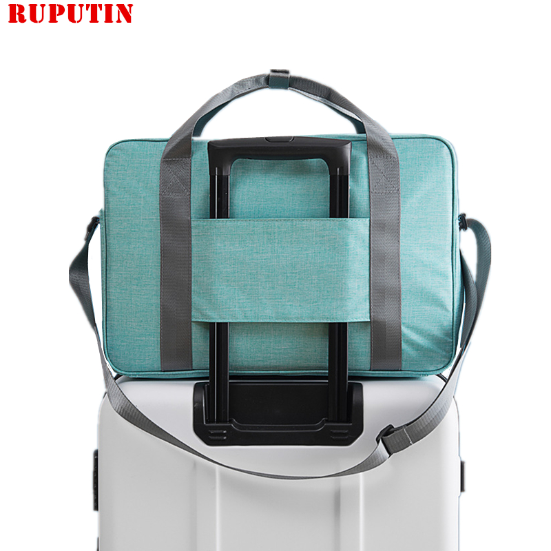 Portable Luggage Duffel Bag Happy Camper Camping Gifts Cosply Travel Bags Carry-on In Trolley Handle
