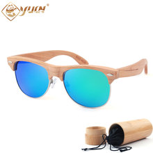 font b Handmade b font font b wooden b font sunglasses men fashion polarized club