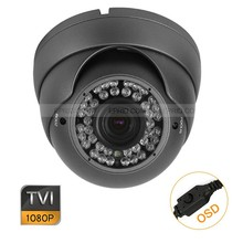 HD TVI 1080P 1/2.8″ Metal Dome Camera 2MP Varifocal 2.8-12mm Lens OSD Menu