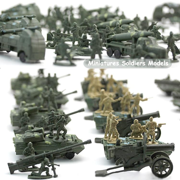 ( 96 PCS ) Nostalgic toys World War II soldier military toys kit Action Figures military Army Men Play set