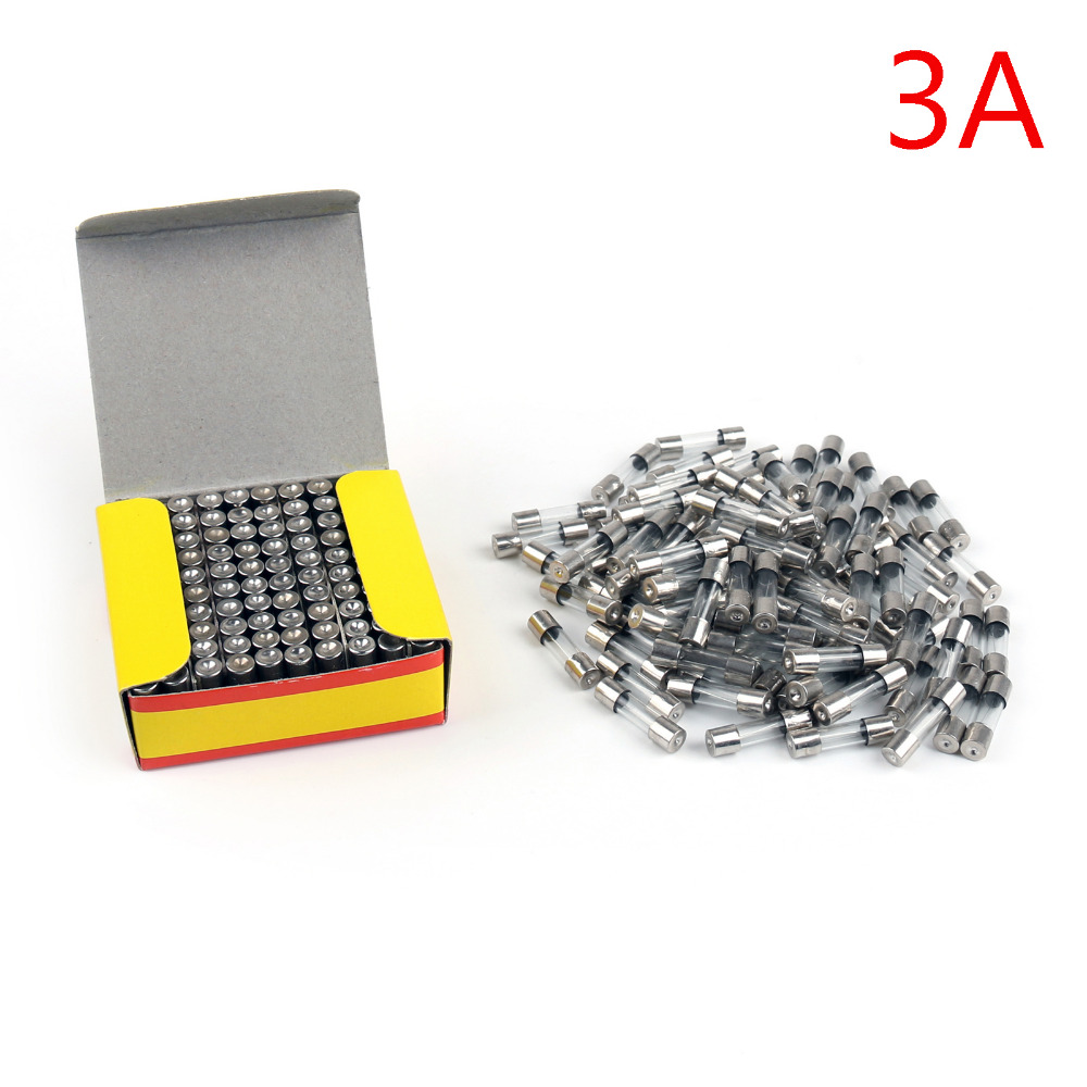 Areyourshop Sale 1000Pcs 5 x 20mm 250V Glass Fuse Quick Blow Acting Fuse Fast-Blow Glass Fuse 3A rgs4b 315a fast fuse rgs4b 315a 660gh fast acting fuse