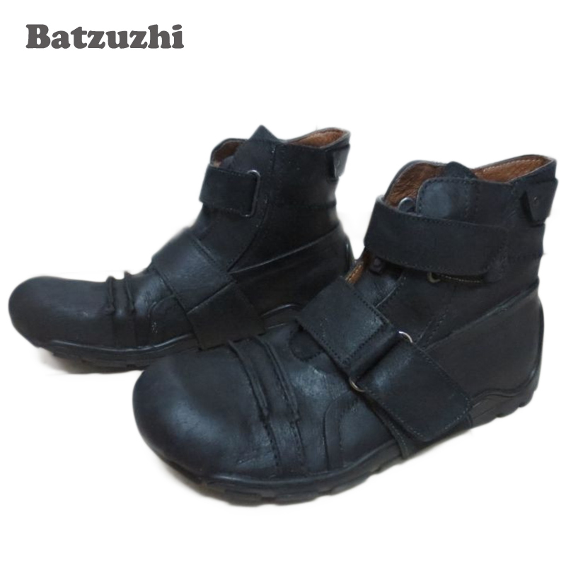 Batzuzhi New Design Super Cool Men Boots Ankle Genuine Leather Knee-high Men's Boots, Brand Men's casual footwear Personality