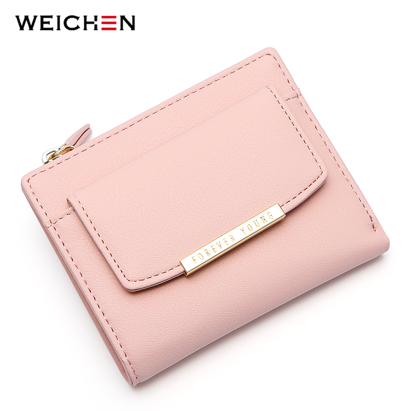 WEICHEN 2018 New Designer Small Wallet Women Pink PU Leather Coin Purse Card Holder High Quality Short Ladies Wallets Female samplaner fashion women wallets small purse female pu leather purse ladies card holder coin purse girls short wallet portemonnee