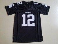 BONJEAN Mens Cheap American Football Jerseys 12 Andrew Luck Stratford High School Throwback Jerseys Black HS