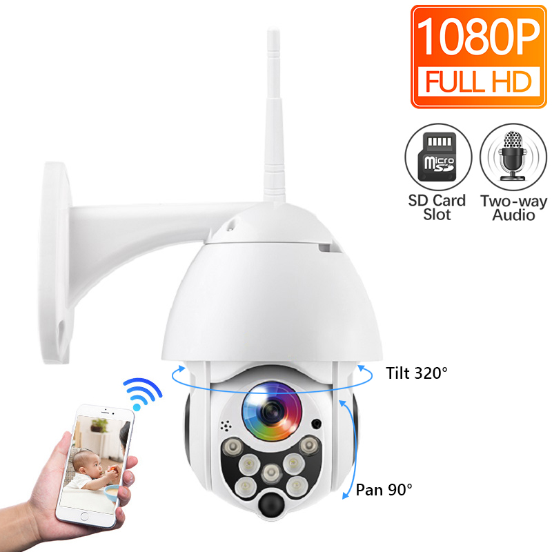HD 1080P Wireless Wired IP Camera Pan Tilt Two Way Talk 2MP CCTV Security Camera TF Storage Outdoor Waterproof APP ViewHD 1080P Wireless Wired IP Camera Pan Tilt Two Way Talk 2MP CCTV Security Camera TF Storage Outdoor Waterproof APP View