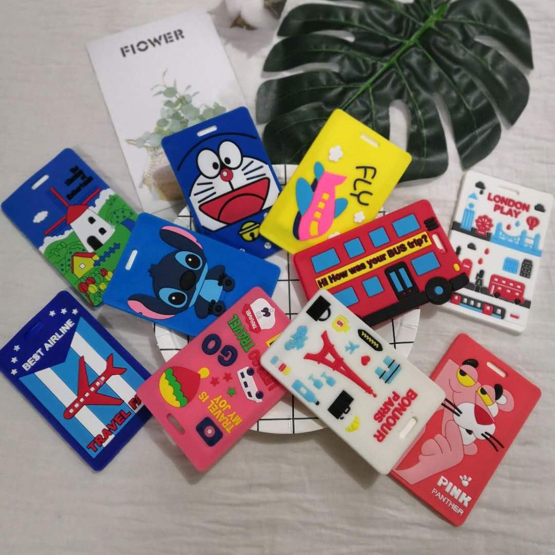 2018 Direct Selling Maleta De Viaje Maletas Fashion Cartoon Lilo&stitch Luggage Tag Tags Check Card Boarding Pass For Wholesale