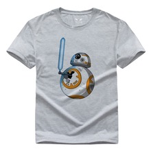Cool star wars t shirt BB 8 BB Saber DIY T shirt funny customized t shirt