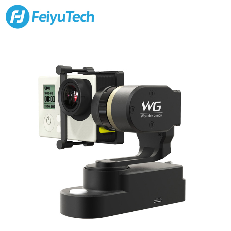 Feiyu WG Wearable Gimbal 3-axis Brushless Gimbal for GoPro 3/3+/ gopro 4 AEE Xiaoyi sports Camera free gifts zhiyun z1 rider m wg 3 axis brushless wearable gimbal for gopro 4 3 3 with bluetooth wireless remote control