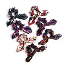 купить Women Female Handmade Hair Band Hair Tie Pearl Ponytail Holder Bowknot Hair Accessories по цене 46.29 рублей