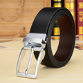 2017 Nuevos hombres del diseñador de moda cinturones de alta calidad de cuero de vaca genuino vintage pin hebillas ceinture bussiness Hombre correas de lujo