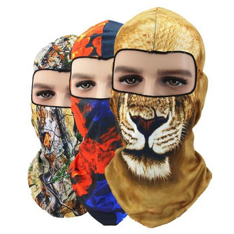 Halloween 3D Animal Balaclava Bicycle Bike Motorcycle Hats Snowboard Tiger Party Helmet Winter Warmer Pet Full Face Mask