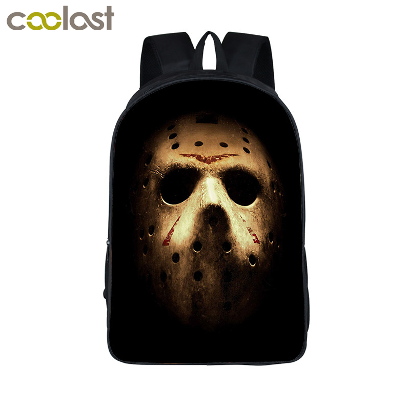 Horrible Nightmare Jason Freddy Backpack For Teenage Children School Bags Boys Girls Bagpack School Backpacks Kids Bag anime noragami aragoto yato backpack for teenage girls boys cartoon yukine children school bags casul book bag travel backpacks
