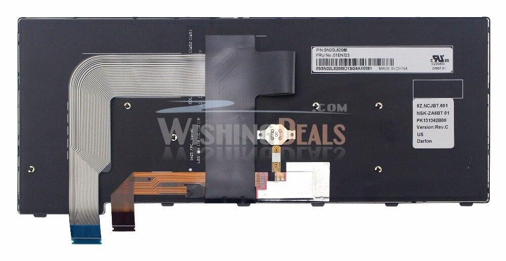 Original New for IBM Lenovo ThinkPad 01EN712 01EN753 US Black Backlit Keyboard
