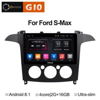 2GB RAM+16GB ROM 9 inch Android 8.1 Quad 4Core Car DVD Player For Ford S Max 2007 2008( MT) GPS Navi Radio Stereo BT TPMS DAB+