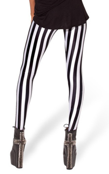 Striped Vertical Printed Legging 1