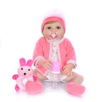 55CM bebes Reborn Dolls Realistic newborn baby Doll soft full body silicone Boneca Doll lol Girl Christmas Surprice gift