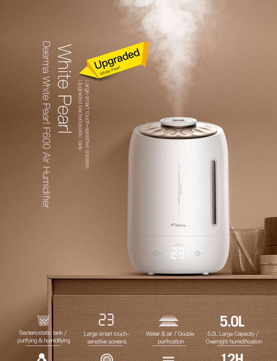 Xiaomi Mijia deerma 5L Air Home Ultrasonic Humidifier Touch Version Air Purifying for Air-conditioned rooms Office household D5 (20)