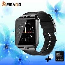 Получить скидку Lemado Умные часы на запястье dz09 Поддержка sim-карты анти-потерянный Часы SmartWatch Android с Для мужчин dz09 Батарея