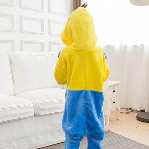 Image 5 - 少年少女の子供手下黄色パジャマセットフランネル漫画付きスパースター infantil 着ぐるみパジャマ