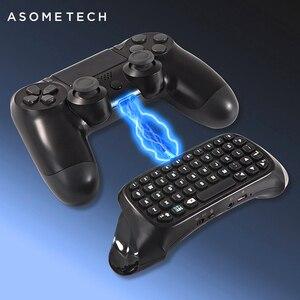 Image 1 - Mini Tastiera Senza Fili di Bluetooth Per Sony PS4 PlayStation 4 Accessori Gamepad Tastiera Per Il Gioco 4 P4 Parti del Controller Tastiera