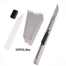 FOSHIO 30 Degree DIY Cutter Art Knife+10pcs Snap Off Blades Car Wrap Vinyl Film Cut Utility Knife Sticker Paper Cutting Tool