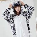 Pijama de dibujos animados Cosplay Zebra Home Ropa de Franela Caliente Animal Pijama de Una Pieza Para Adultos Onesie Pareja Pijama
