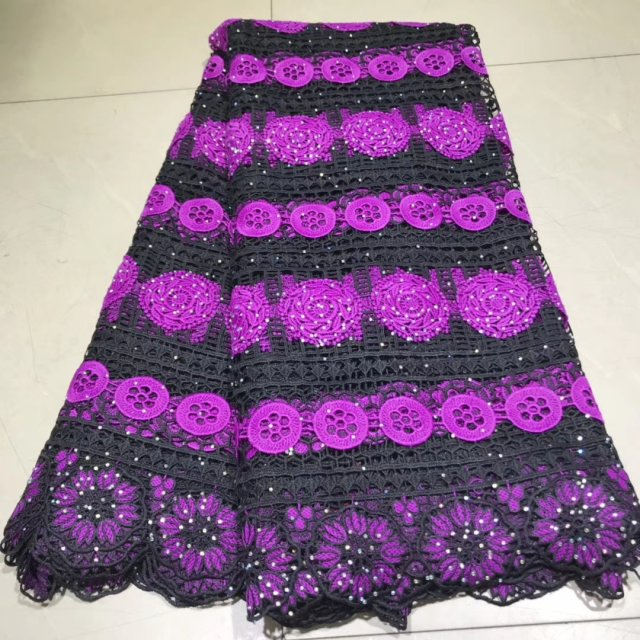 Black African Embroidery Lace Fabric With Rhinestone Nigerian Lace Fabric 2019 High Quality Latest White Swiss Voile Lace 5y