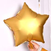 10pcs 18inch Metallic Foil Helium Balloons Heart Star Wedding Birthday Party Supplies Air Balloons Valentine's Day Globos цена 2017