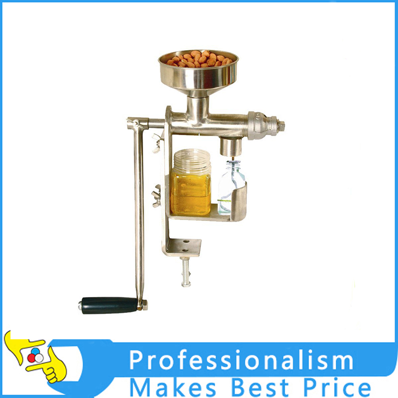 New DIY Stainless Steel Manual Oil Press Machine Oil Expeller Machine 2015 new style manual heat press machine for tshirt garments clothes