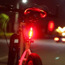 2016 Hordozható 5 LED USB MTB Road Bike hátullámpa Újratölthető Biztonsági figyelmeztetés Kerékpár hátsó lámpa lámpa kerékpározás Kerékpár kiegészítők