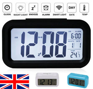 Alarm-Clock Night-Light Digital Sensor Lcd-Display Office-Table Time Kids Electronic