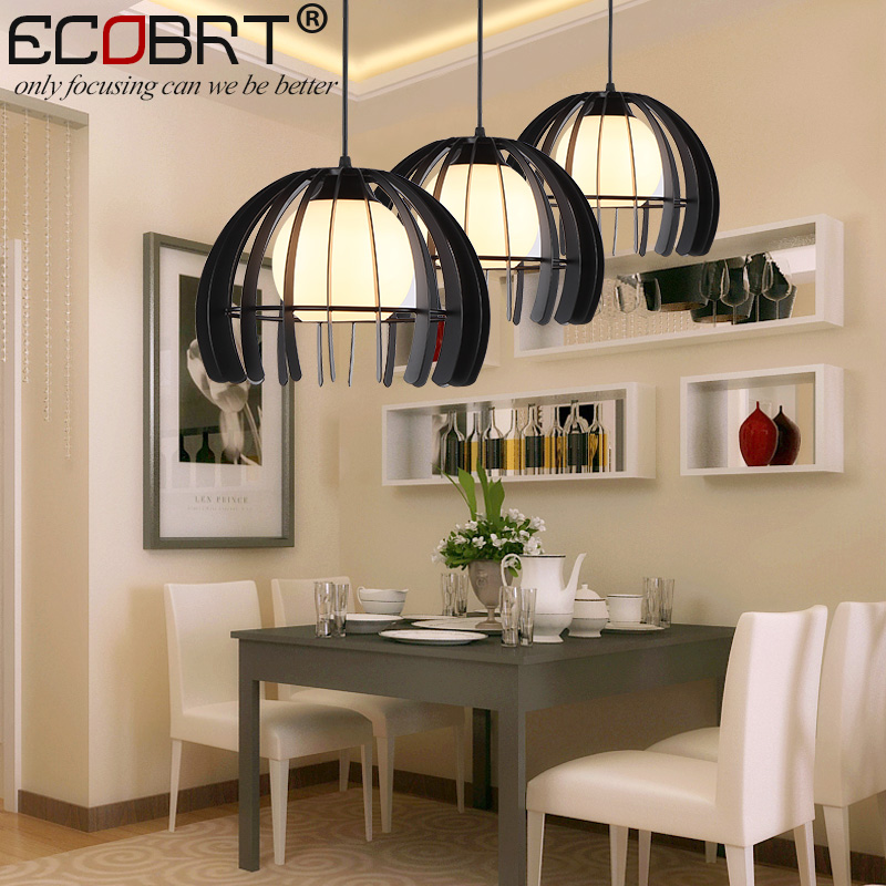 ECOBRT Vintage Iron and glass Pendant Lights Loft Retro Bar Cafe Decoration Light Restaurant American Country Style Hanging Lamp new loft vintage iron pendant light industrial lighting glass guard design bar cafe restaurant cage pendant lamp hanging lights