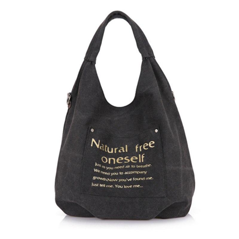 Canvas Bag Vintage Canvas Shoulder Bag Handbags Ladies Tote Bolsos Mujer Hobos Bolsas Feminina