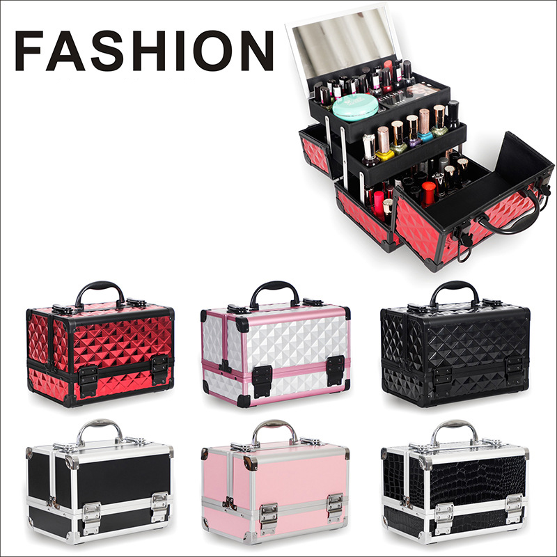 New Brand Luxury Makeup Box Artist Professional Beauty Cosmetic Cases Makeup Bag Tattoo Nail Multilayer Toolbox Storage Bag