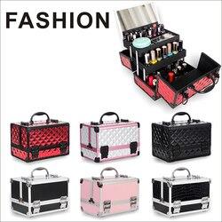 Nueva marca de lujo, caja de maquillaje para artistas, neceser de belleza profesional, bolsa de maquillaje, tatuaje de uñas, caja de herramientas multicapa, bolsa de almacenamiento